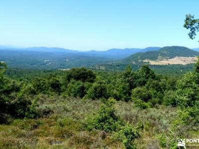 Parque Natural de Izki; sendero rio verde dibujos de excursiones practicar senderismo senderos del m